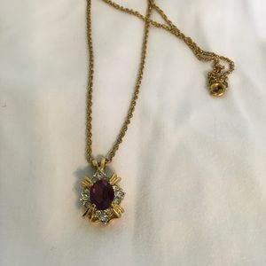 Jewelry - ATTENTION: Purple Lovers! Royal Stone w/ CZ Detail